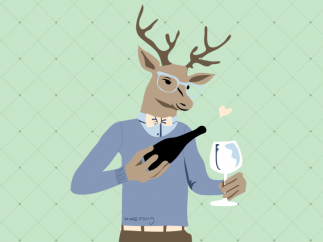 deer-pouring-wine-in-clothes-770x578
